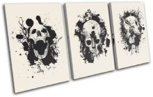 Skulls Graffiti Cream Illustration - 13-0732(00B)-TR21-LO